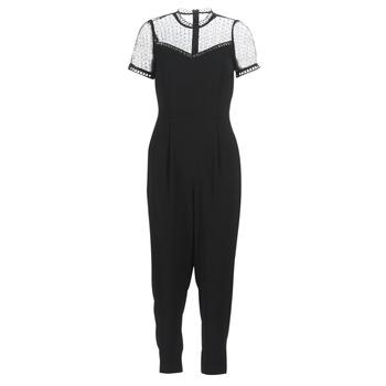 Textil Ženy Overaly / Kalhoty s laclem MICHAEL Michael Kors LACE YOKE JUMPSUIT Černá