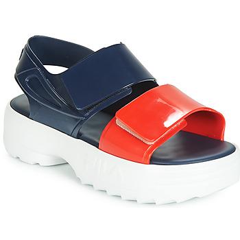 Boty Ženy Sandály Melissa SANDAL + FILA Tmavě modrá / Červená / Bílá