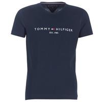 Textil Muži Trička s krátkým rukávem Tommy Hilfiger TOMMY FLAG HILFIGER TEE Tmavě modrá