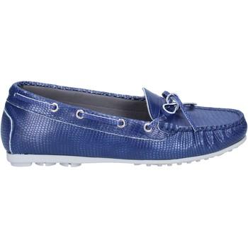 Boty Ženy Mokasíny K852 & Son mocassini blu pelle BT933 Blu