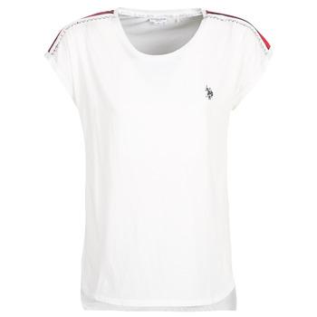 Textil Ženy Trička s krátkým rukávem U.S Polo Assn. JEWELL TEE SS Bílá