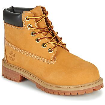 Boty Chlapecké Kotníkové boty Timberland 6 IN PREMIUM WP BOOT Zlatohnědá