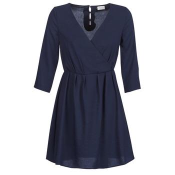 Textil Ženy Krátké šaty Vila VIROSSIE Tmavě modrá
