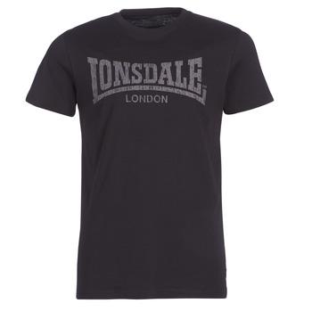 Textil Muži Trička s krátkým rukávem Lonsdale LOGO KAI Černá