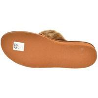 Boty Ženy Papuče John-C Dámske hnedé papuče LESIA hnedá