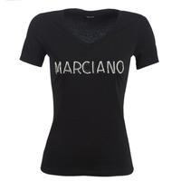 Textil Ženy Trička s krátkým rukávem Marciano LOGO PATCH CRYSTAL Černá