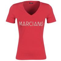 Textil Ženy Trička s krátkým rukávem Marciano LOGO PATCH CRYSTAL Červená