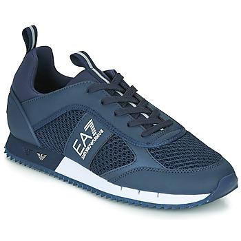 Boty Muži Nízké tenisky Emporio Armani EA7 BLACK&WHITE LACES U Modrá