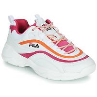 Boty Ženy Nízké tenisky Fila RAY CB LOW WMN Bílá / Růžová / Oranžová