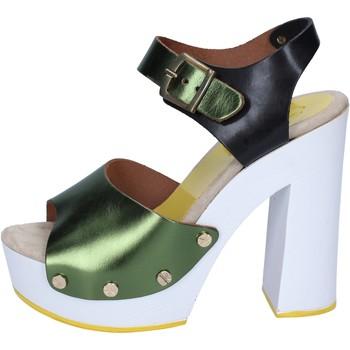 Boty Ženy Lodičky Suky Brand sandali verde nero pelle BS18 Verde