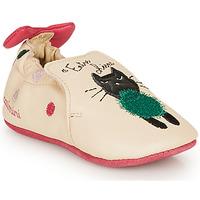 Boty Dívčí Papuče Catimini CALICETTE Béžová / Růžová