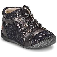 Boty Dívčí Kotníkové boty GBB OMANE Tmavě modrá / Stříbřitá