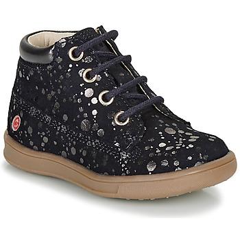 Boty Dívčí Kotníkové boty GBB NINON Tmavě modrá / Stříbrná