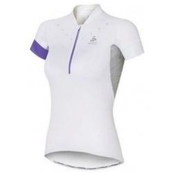 Textil Ženy Trička s krátkým rukávem Odlo Stand-Up Collar Short Sleeve 12 Zip Isola bílá