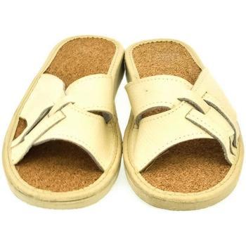 Boty Ženy Sandály John-C Dámske béžové papuče ELMA béžová