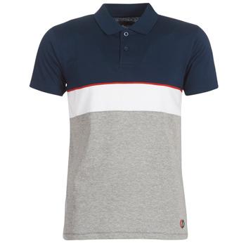 Textil Muži Polo s krátkými rukávy Yurban KOULAZ Tmavě modrá / Šedá / Bílá