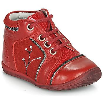 Boty Dívčí Kotníkové boty Catimini CALINE Červená