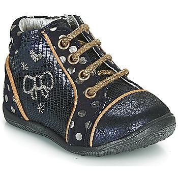 Boty Dívčí Kotníkové boty Catimini CARASSIN Tmavě modrá / Zlatá