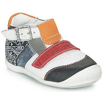 Boty Chlapecké Sandály GBB MARTIN Bílá / Tmavě modrá