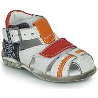 Boty Chlapecké Sandály GBB MELVIL Bílá / Červená / Oranžová