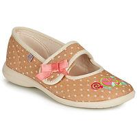 Boty Dívčí Papuče GBB MELINA Béžová