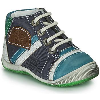 Boty Chlapecké Kotníkové boty Catimini CIGOGNE Modrá / Zelená