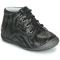 Boty Dívčí Kotníkové boty GBB NAOMI Černá / Stříbrná