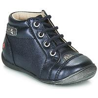 Boty Dívčí Kotníkové boty GBB NICOLE Tmavě modrá / Stříbrná