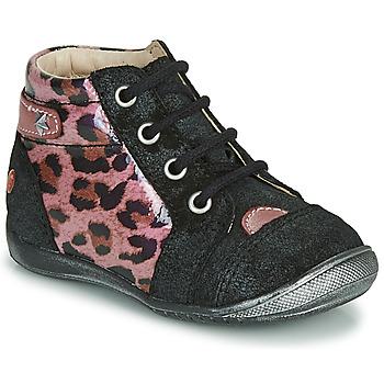 Boty Dívčí Kotníkové boty GBB NICOLE Černá / Růžová