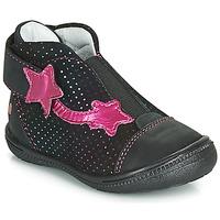 Boty Dívčí Kotníkové boty GBB NOLWENN Černá / Růžová