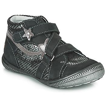 Boty Dívčí Kotníkové boty GBB NINA Černá / Stříbrná