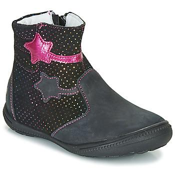 Boty Dívčí Kotníkové boty GBB NADIA Černá / Růžová