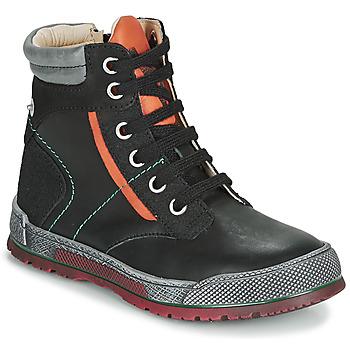 Boty Chlapecké Kotníkové boty Achile MANUEL Černá / Oranžová