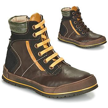 Boty Chlapecké Kotníkové boty Achile MANUEL Hnědá / Žlutá
