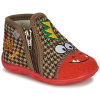 Boty Chlapecké Papuče GBB NEREO Červená / Hnědá