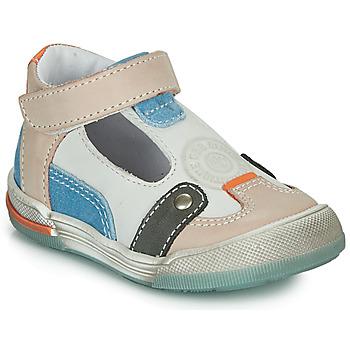 Boty Chlapecké Sandály GBB PERCEVAL Bílá / Béžová / Modrá