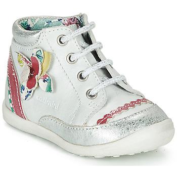 Boty Dívčí Kotníkové boty Catimini POUSSIN Bílá