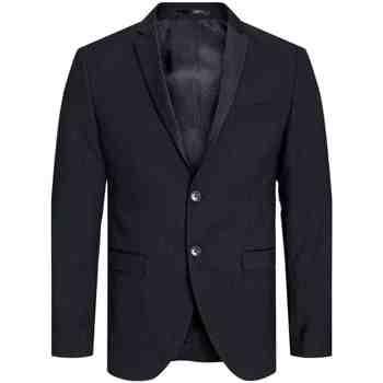Textil Muži Saka / Blejzry Jack & Jones 12143492 JPRSOLARIS TUX BLAZER BLACK Negro