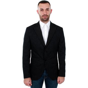 Textil Muži Saka / Blejzry Jack & Jones 12146072 JPRHUGO TUX BLAZER BLACK Negro