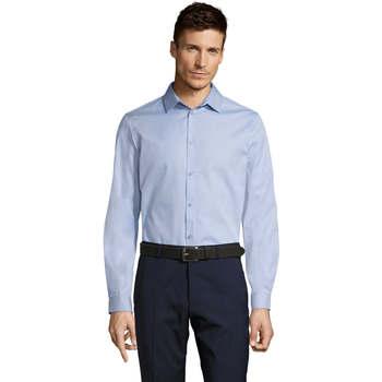 Textil Muži Košile s dlouhymi rukávy Sols BRODY WORKER MEN Azul