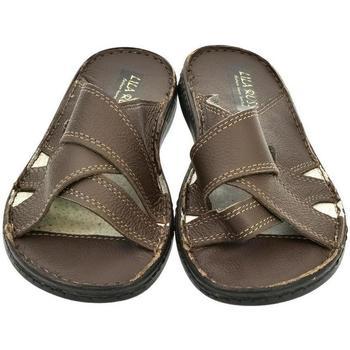 Boty Muži Dřeváky John-C Pánske hnedé papuče ARON hnedá