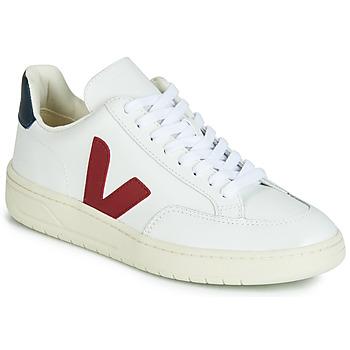 Boty Nízké tenisky Veja V-12 LEATHER Bílá / Modrá / Červená