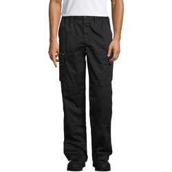 Textil Cargo trousers  Sols ACTIVE PRO WORKS Negro