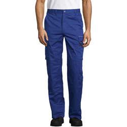 Textil Cargo trousers  Sols ACTIVE PRO WORKS Azul