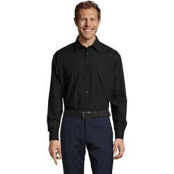 Textil Muži Košile s dlouhymi rukávy Sols BALTIMORE FASHION WORK Negro