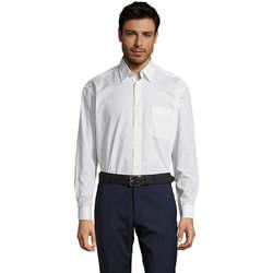 Textil Muži Košile s dlouhymi rukávy Sols BALTIMORE FASHION WORK Blanco
