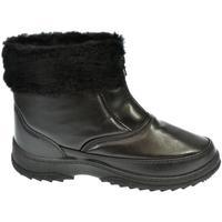 Boty Ženy Zimní boty John-C Dámske čierne členkové čižmy INORA čierna