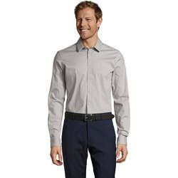 Textil Muži Košile s dlouhymi rukávy Sols BLAKE MODERN MEN Gris