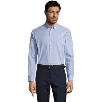 Textil Muži Košile s dlouhymi rukávy Sols BOSTON STYLE OXFORD Azul