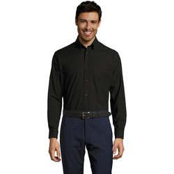 Textil Muži Košile s dlouhymi rukávy Sols BOSTON STYLE OXFORD Negro